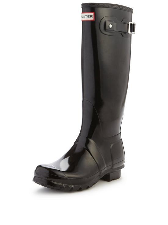 b52f05482 Hunter Original Tall Gloss Wellington Boots - Black | very.co.uk