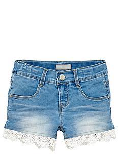 name-it-girls-lace-trim-denim-shorts