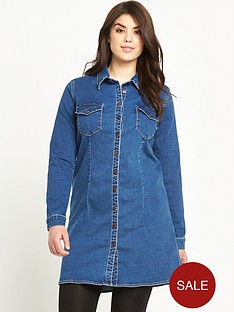 alice-you-longline-denim-shirt