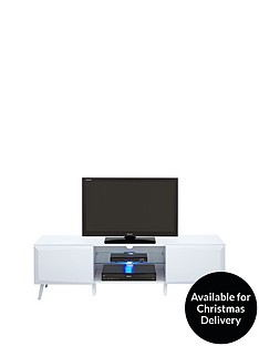 Xander Wide High Gloss TV Stand with LED Lights - fits up to 65 inch TV
