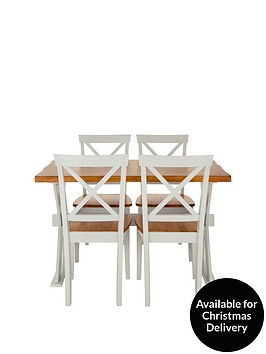 Ideal Home Axxon 120 cm Dining Table   4 ChairsDining Table Sets   Dining Tables   6 Chairs   Very co uk. Dining Room Sets Co Uk. Home Design Ideas
