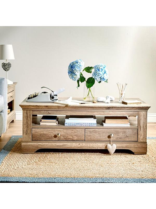 Ideal Home Wiltshire 2 Drawer Coffee Table Verycouk
