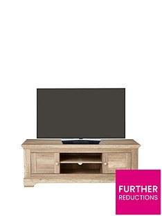 Ideal Home Wiltshire 2 Door TV Unit - fits up to 60 inch TV