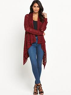 v-by-very-pointelle-waterfall-cardigan