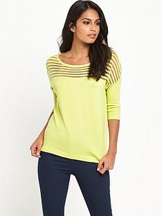 v-by-very-sheer-stripe-yoke-jumper