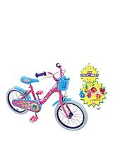 Shopkins 16 Inch Bike with Basket & Collectibles