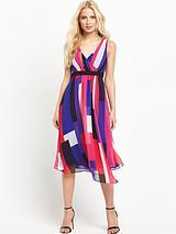 Colour Block Asymmetric Dress