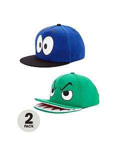 boys-fun-face-printed-caps-2-pack
