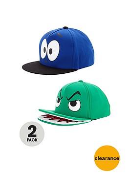 boys-fun-face-printed-caps-2-pack