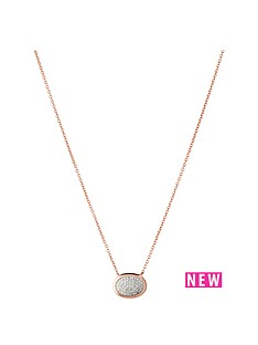 links-of-london-links-of-london-rose-gold-vermeil-diamond-essetials-oval-pave-necklace