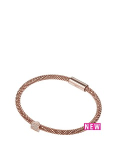 links-of-london-star-dust-rose-gold-plated-suare-cz-bead-bracelet
