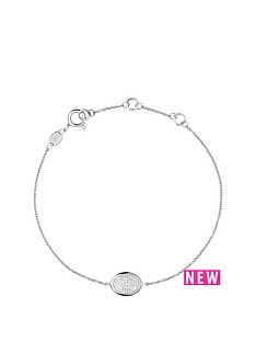 links-of-london-sterling-silver-diamond-essentials-oval-pave-bracelet