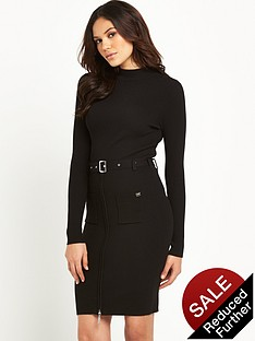 lipsy-michelle-keegan-high-neck-belted-knitted-dress