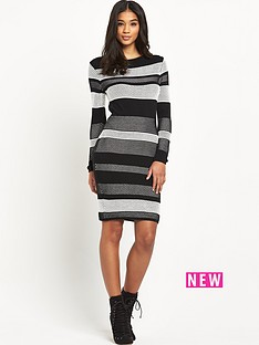 lipsy-michelle-keegan-mesh-stitch-knitted-dress