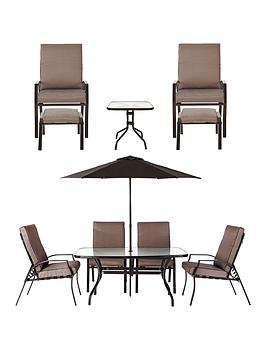 Garden Furniture Very santorini 11-piece dining set garden furniture | very.co.uk