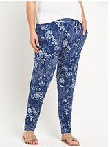 Print Jersey Peg Trousers