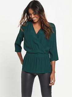 v-by-very-tie-wrap-blouse