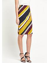Stripe Print Pencil Skirt