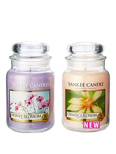 yankee-candle-set-of-2-large-jar-candles-ndash-champaca-blossom-amp-honey-blossom