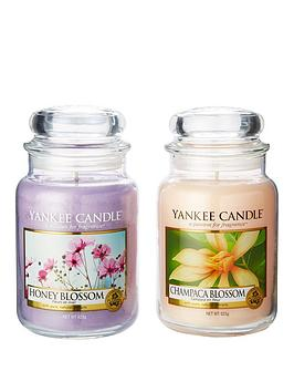 yankee-candle-set-of-2-large-jar-candles-ndash-champaca-blossom-amp-honey-blossom