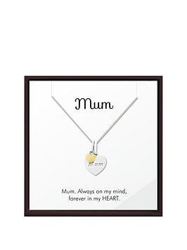 keepsafe-sterling-silver-and-yellow-rhodium-mum-heart-pendant