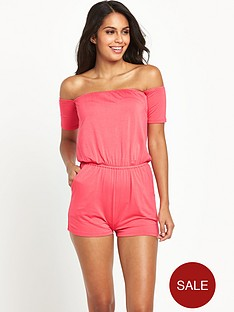 v-by-very-off-the-shoulder-jersey-beach-playsuit
