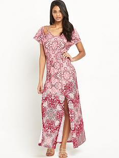 v-by-very-print-crochet-trim-jersey-maxi-dress