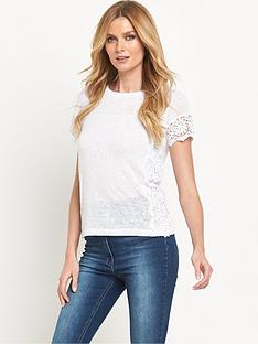 v-by-very-crochet-side-panel-t-shirt