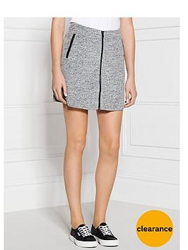calvin-klein-fortune-zip-front-skirt-grey