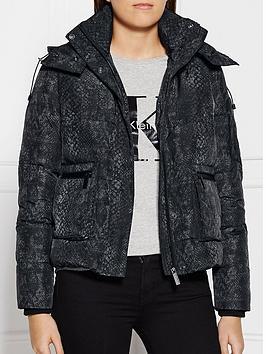 calvin-klein-amelia-snake-print-padded-jacket-black