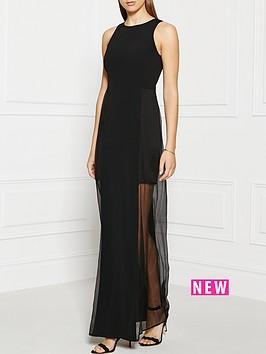 grace-mmxiii-chloe-paneled-silk-chiffon-gown-black