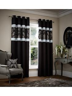 glamour-jacquard-curtains-black