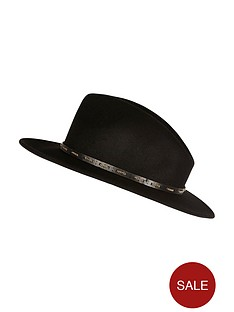 river-island-chain-detail-fedora-hat