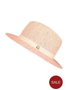river-island-girls-ombre-straw-fedora