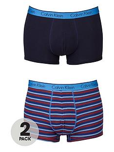 calvin-klein-stripeplainnbsptrunks-2-pack