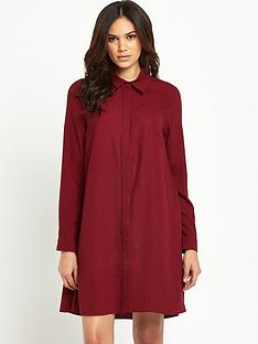 glamorous-shirt-swing-dress
