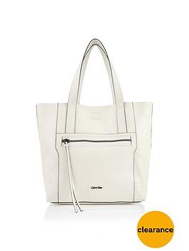 calvin-klein-sadie-cracked-leather-tote-white