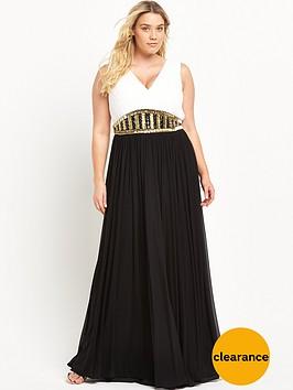forever-unique-curve-curve-v-neck-embellished-maxi-dress