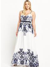 Curve Strappy Maxi Dress