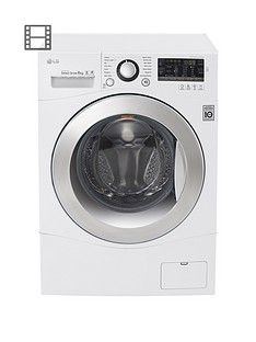 LG FH2A8TDN2 8kg Load, 1200 Spin Washing Machine - White