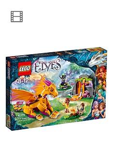 lego-elves-fire-dragons-lava-cave-41175