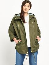 Cape Style Parka Jacket