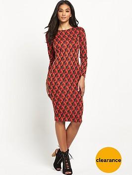 glamorous-geo-midi-bodycon-dress