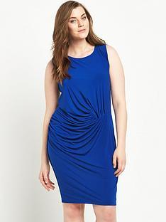 junarose-curve-sleeveless-ruched-dress-sizes-14-26-blue