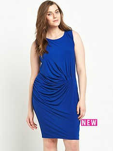 junarose-curve-sleeveless-ruched-dress-sizes-14-26-blue