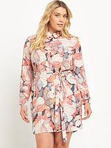 Curve Printed Shirt Dress (Sizes 14-26)
