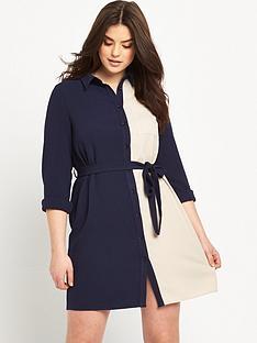 lovedrobe-colourblock-shirt-dress