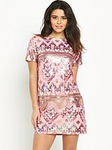 Sequin Aztec Dress