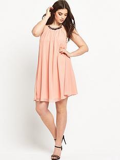 lovedrobe-embellished-collar-swing-dress