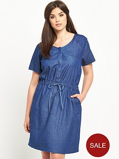 junarose-curve-chambray-tie-waist-dress-sizes-14-26